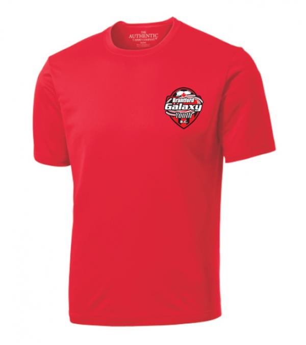 Brantford Galaxy ATC Pro Team Short Sleeve Tee Red