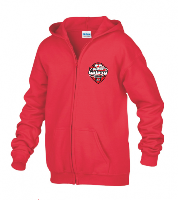 Brantford Galaxy Full Zip Hooded Sweatshirt Red