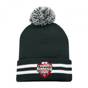 Brantford Galaxy Striped Pom Beanie