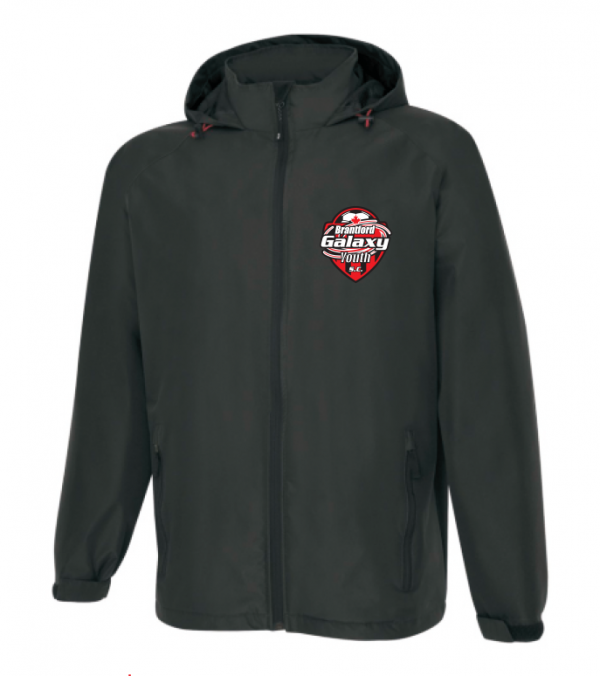 Brantford Galaxy Hooded Full Zip Rain Jacket