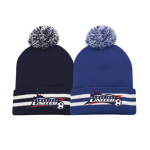 Cambridge United Striped Cuff Pom Pom Toque