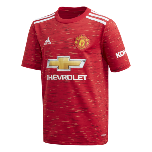 Adidas MUFC (20/21) Youth Home Jersey 4