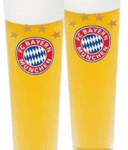 Bayern Munich Slim Style Pint Glass (Set of 2) 4
