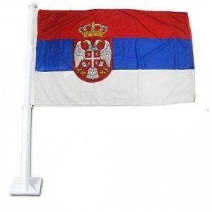 Car Flag - Serbia 1