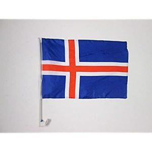 Car Flag - Iceland 1