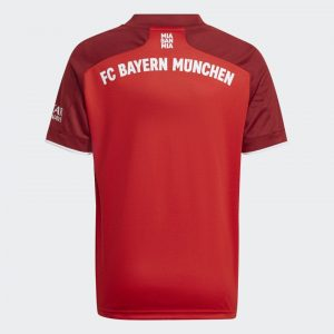 image of back of FC Bayern home jersey