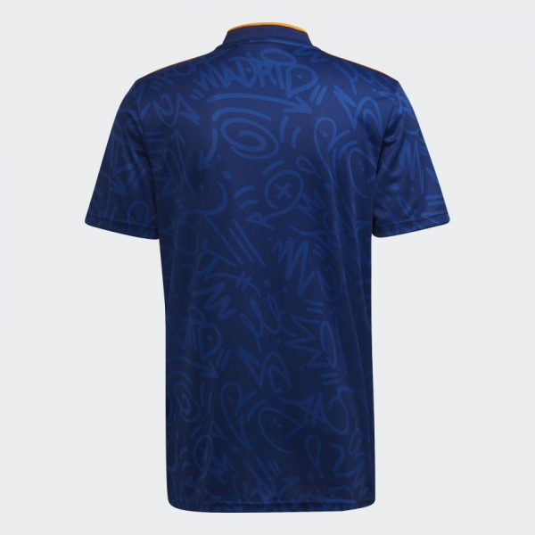 image of back of Real Madrid away jersey