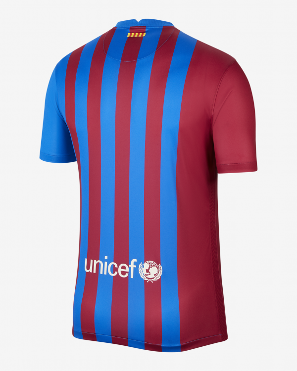 image of back of Barcelona home jersey