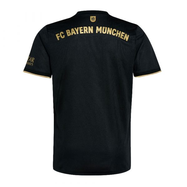 image of back of FC Bayern away jersey