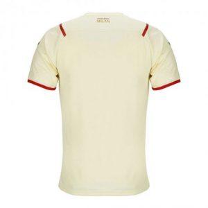 image of ac milan away jersey back