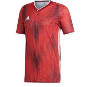 image of adidas tiro red jersey