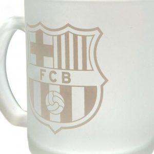 image of barcelona frosted glass mug