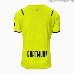 image of borussia dortmund 21-22 cup jersey back