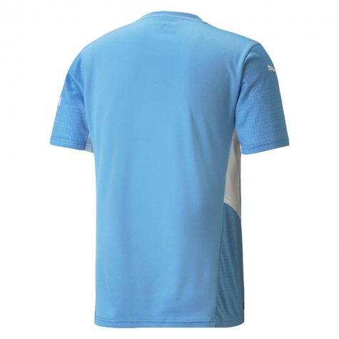 image of man city home jersey back