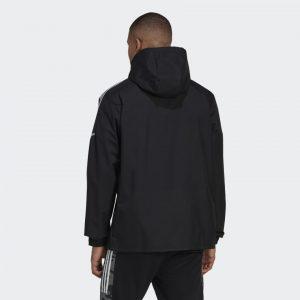 image of adidas condivo all weather jacket back