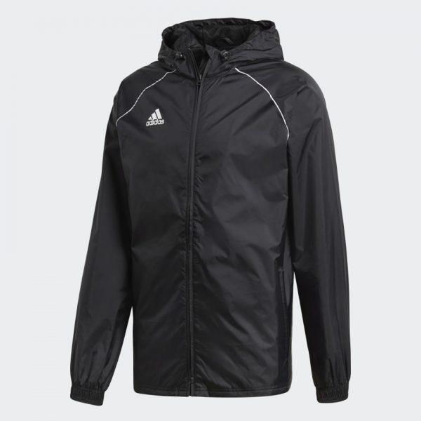 image of adidas core black rain jacket