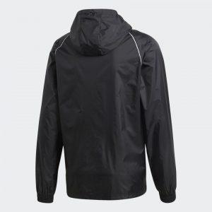 image of adidas core black rain jacket back