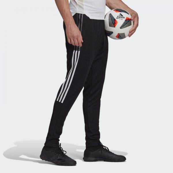 image of adidas tiro black pants side