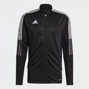 image of adidas tiro black jacket