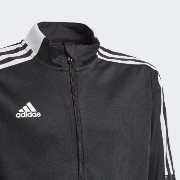 image of adidas tiro black jacket collar