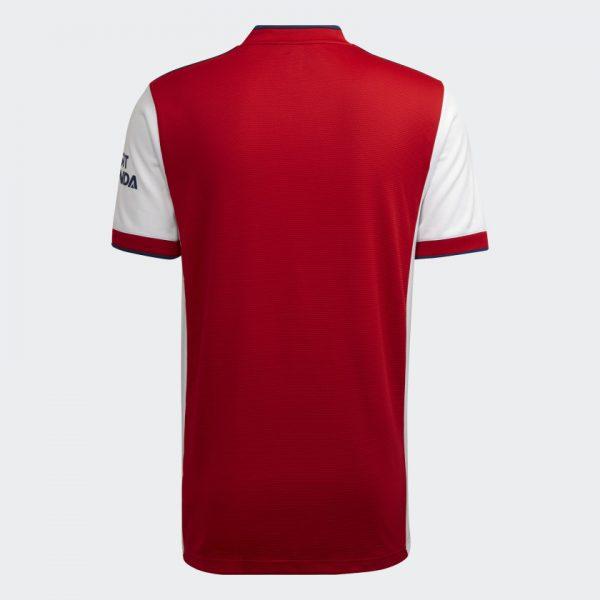 image of adidas arsenal home jersey back