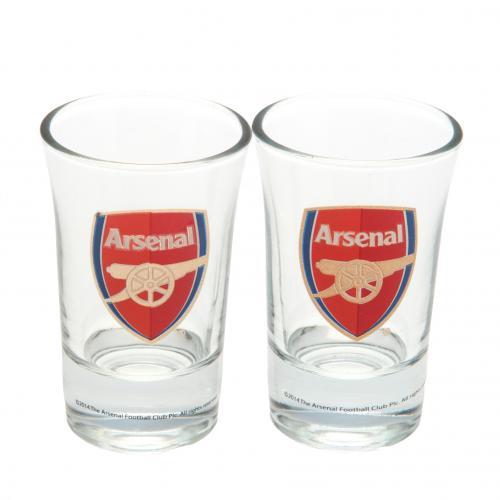image of arsenal shot glasses