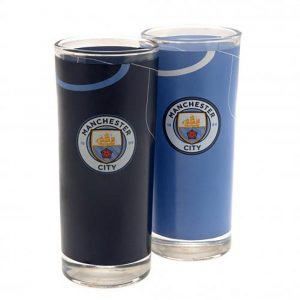 image of manchester city highball glasses