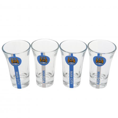 image of manchester city shot glasses