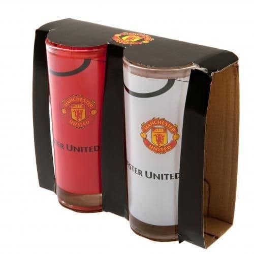 image of manchester united highball glasses